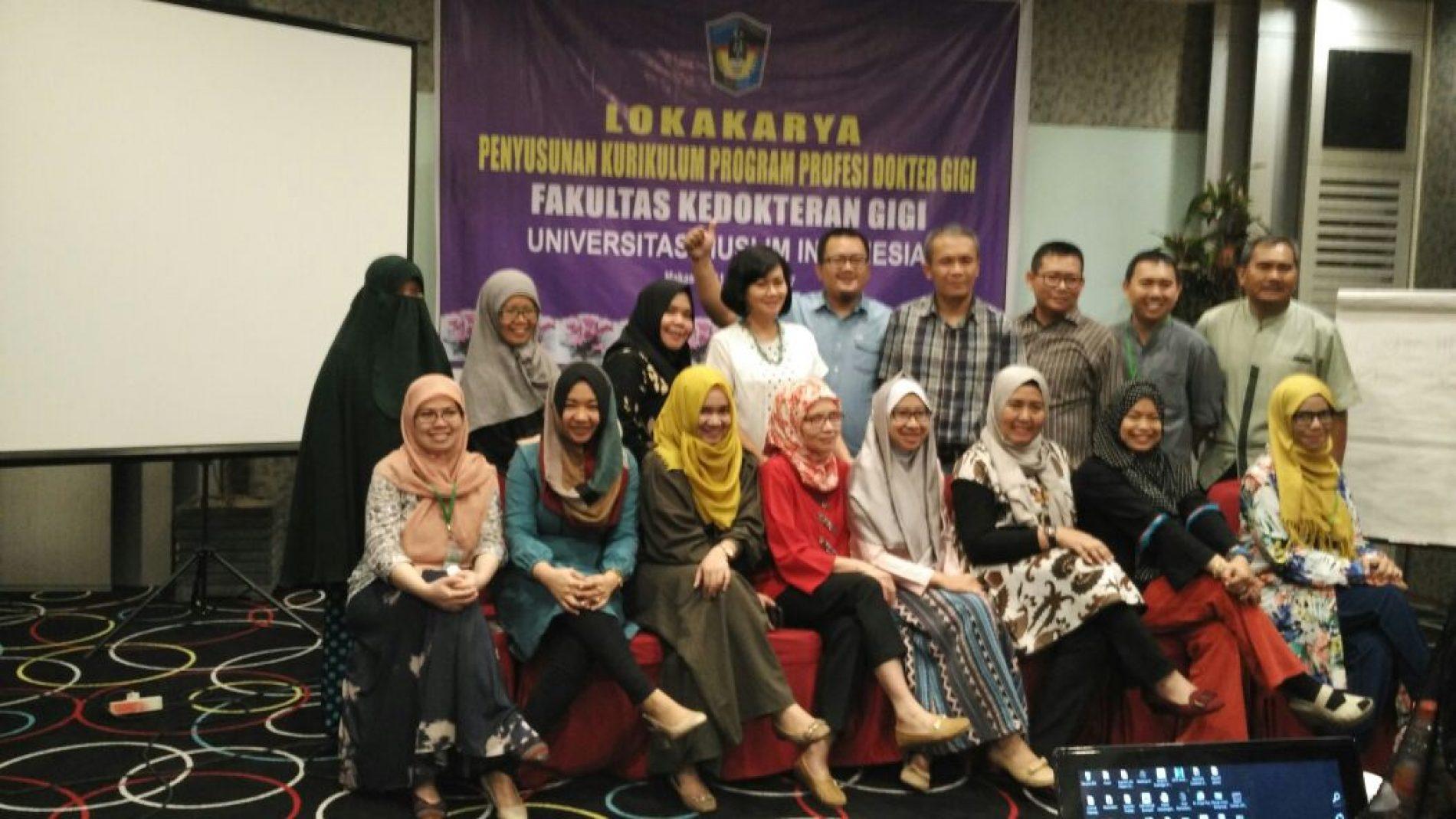 Lokakarya penyusunan kurikulum profesi dokter gigi 11-12 Maret 2017
