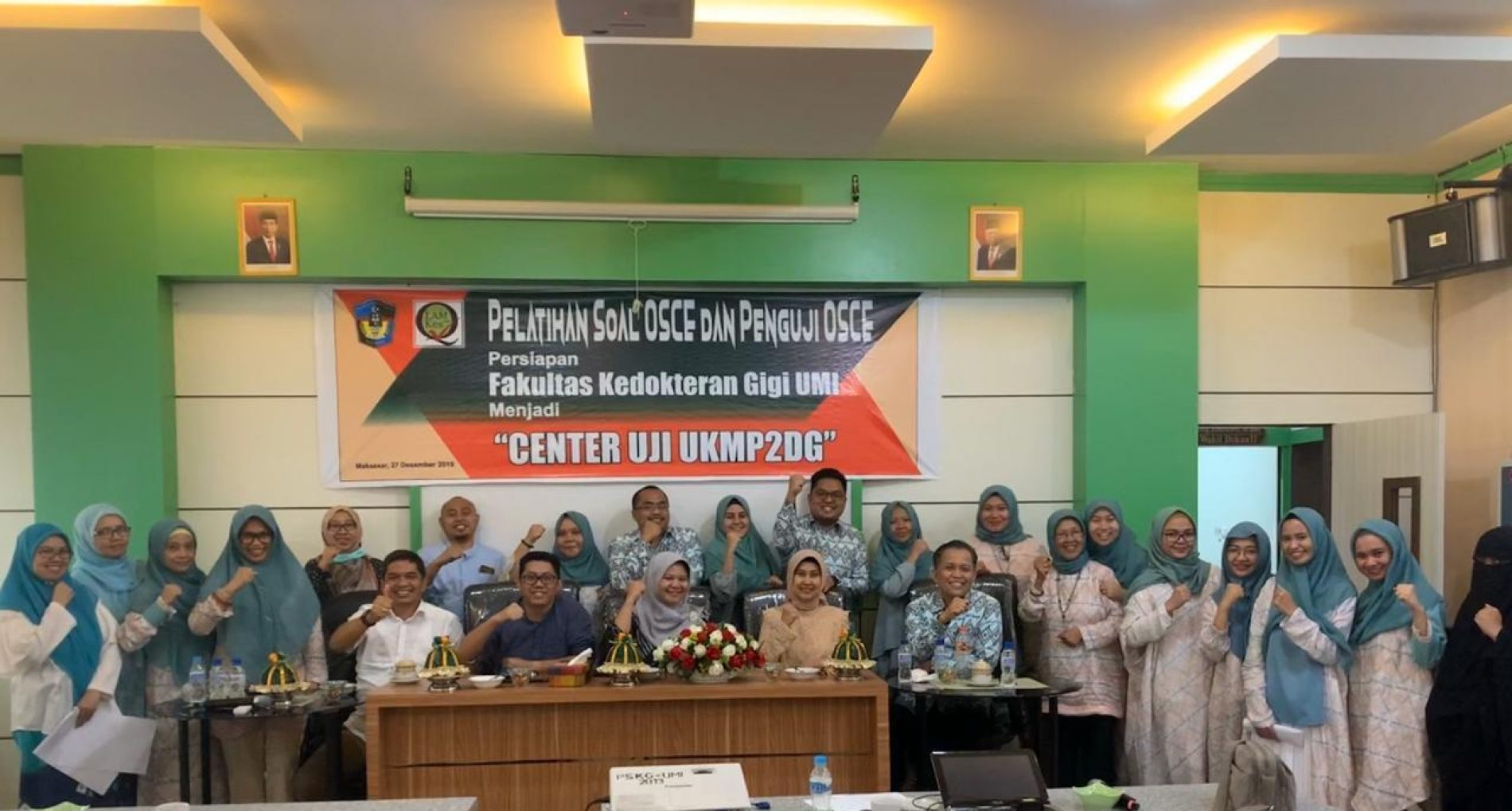 VISITASI CENTER UJI KOMPETENSI DOKTER GIGI DAN PELATIHAN PENGUJI OSCE DOSEN FAKULTAS KEDOKTERAN GIGI UNIVERSITAS MUSLIM INDONESIA